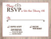Rustic Wood RSVP Card