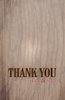 Rustic Wood Thank You Card