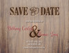 Rustic Wood Save The Date