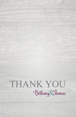 Charming Rustic Thank You Card