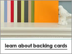 learn about backing cards