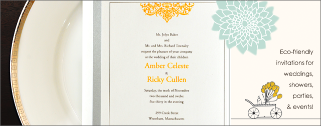 Environmentally Friendly Wedding Invitations: Environmentally Friendly Invitations For Weddings, Parties